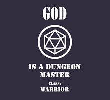 God is a Dungeon Master class warrior Women's Fitted V-Neck T-Shirt
