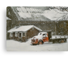 Snow-Bound - Bridgton, Maine Canvas Print