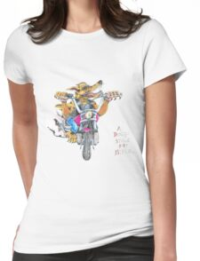 A dingo stole my bike RH Womens Fitted T-Shirt