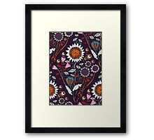 Purple Boheme Framed Print