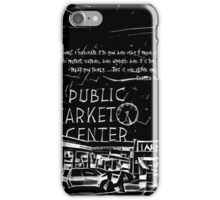 Pike Place Market: Black iPhone Case/Skin