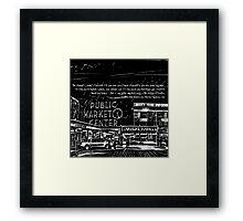 Pike Place Market: Black Framed Print