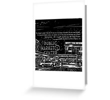 Pike Place Market: Black Greeting Card
