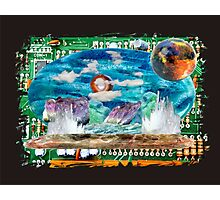 All landscapes through circuitry by Darryl Kravitz Photographic Print