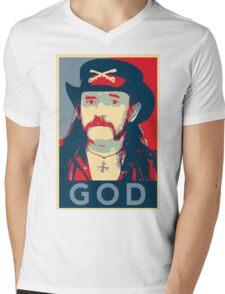 Lemmy GOD Kilmister Mens V-Neck T-Shirt