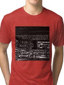 Pike Place Market: Black Tri-blend T-Shirt