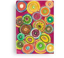 Circles in circles Canvas Print