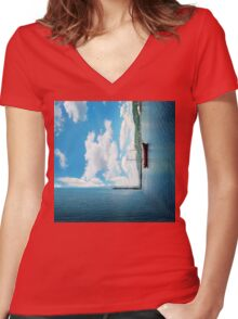 dimension 4 Women's Fitted V-Neck T-Shirt