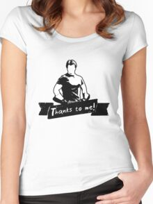 Thanks To You Women's Fitted Scoop T-Shirt