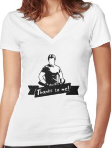 Thanks To You Women's Fitted V-Neck T-Shirt