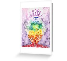 Hands and Heart Chakra Doodle Greeting Card