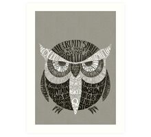 Wise Old Owl Says Art Print