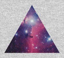 Purple Galaxy Triangle Kids Tee