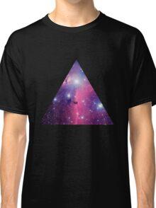 Purple Galaxy Triangle Classic T-Shirt