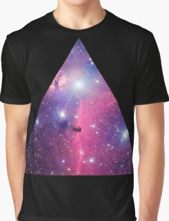 Purple Galaxy Triangle Graphic T-Shirt