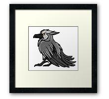 Druid Cuties - Worgen Raven Framed Print
