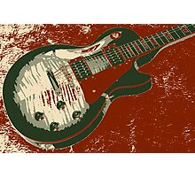Les Paul Artwork - Red Photographic Print