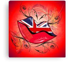 Lips, United Kingdom  Canvas Print