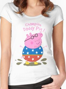 Daddy Champion Women's Fitted Scoop T-Shirt