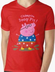 Daddy Champion Mens V-Neck T-Shirt