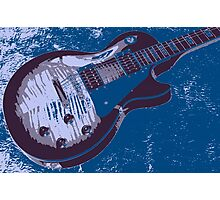 Les Paul Artwork - Blue Photographic Print