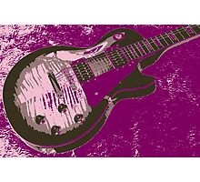 Les Paul Artwork - Purple Photographic Print