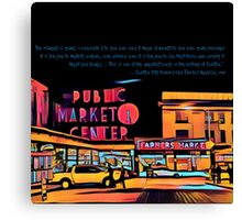 Pike Place Market: Color Canvas Print