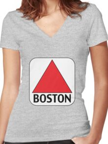 Boston Citgo Women's Fitted V-Neck T-Shirt