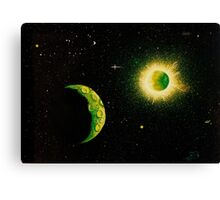 Green Moon Canvas Print