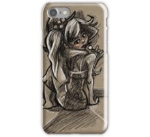 A Woman with a Sucker iPhone Case/Skin