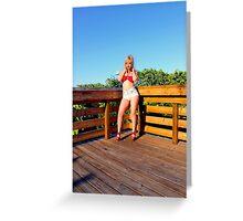 Sexy bikini girl Greeting Card