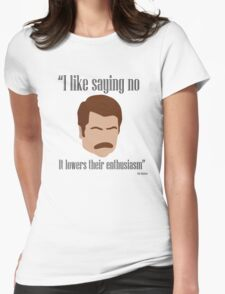 I Like Saying No Womens Fitted T-Shirt