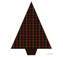 Red Tartan Xmas Tree Photographic Print