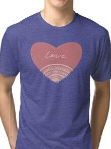 doodle lace heart  Tri-blend T-Shirt