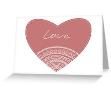 doodle lace heart  Greeting Card