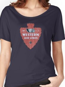 Western Airlines arrowhead Women's Relaxed Fit T-Shirt