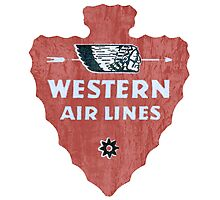 Western Airlines arrowhead Photographic Print