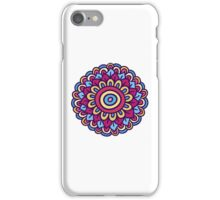 One colorful doodle flower. Hand drawn summer card. iPhone Case/Skin