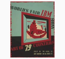WPA United States Government Work Project Administration Poster 0743 World's Fair IBM show Kids Tee