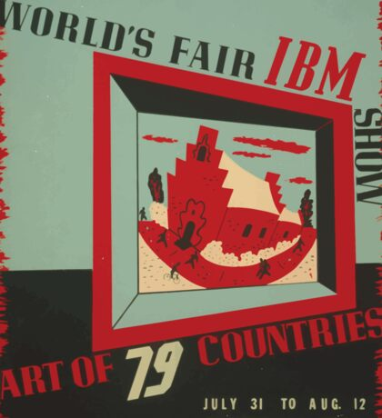 WPA United States Government Work Project Administration Poster 0743 World's Fair IBM show Sticker