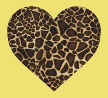Giraffe Heart Kids Tee