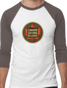Canadian National Railways Men's Baseball ¾ T-Shirt