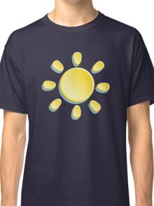 paper sun on turquoise background Classic T-Shirt
