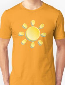 paper sun on turquoise background Unisex T-Shirt