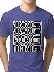 Black and white pattern Tri-blend T-Shirt