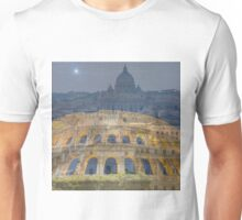 Colosseum and Vatican city Unisex T-Shirt
