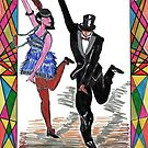 Roaring 20s dancers by Woodie