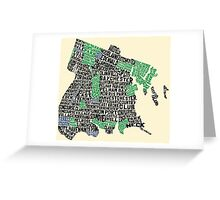 Bronx, New York City Typography Map Greeting Card