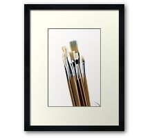 Artist's Brushes Framed Print