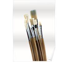 Artist's Brushes Poster